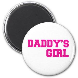 rosa del chica de los daddys imán redondo 5 cm