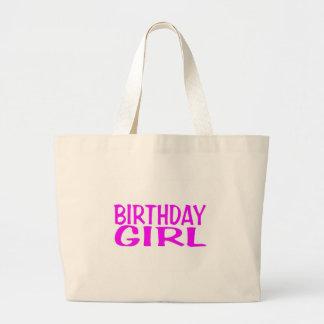 Rosa del chica del cumpleaños bolsa de mano