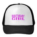 Rosa del chica del cumpleaños gorra