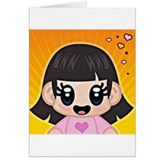 rosa del chica del yourri tarjeta de felicitación