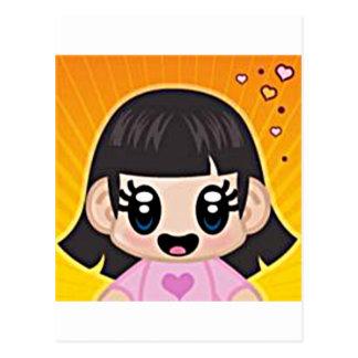 rosa del chica del yourri tarjeta postal