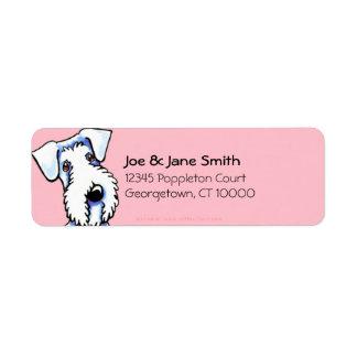 Rosa del chicle de Sealyham Terrier Etiqueta De Remitente