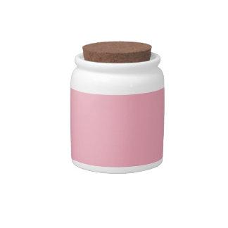 Rosa del chicle plato para caramelo