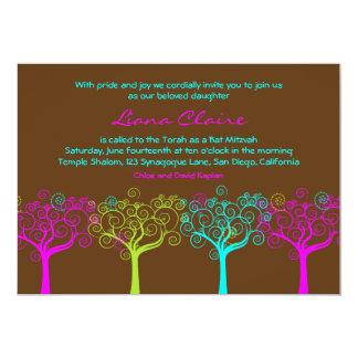 """Rosa del chocolate de Claire del Liana de la Invitación 5"""" X 7"""""""