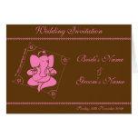 Rosa del chocolate de la invitación del boda de tarjeta de felicitación