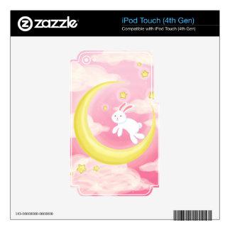 Rosa del conejito de la luna iPod touch 4G skin