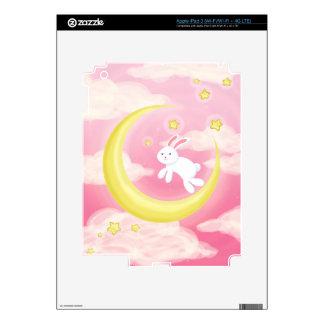 Rosa del conejito de la luna pegatina skin para iPad 3