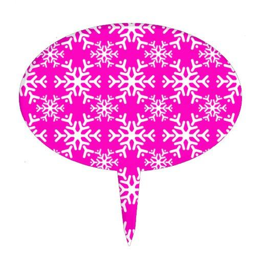 Rosa del copo de nieve 17 figura de tarta