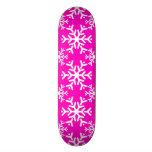 Rosa del copo de nieve 17 tabla de patinar