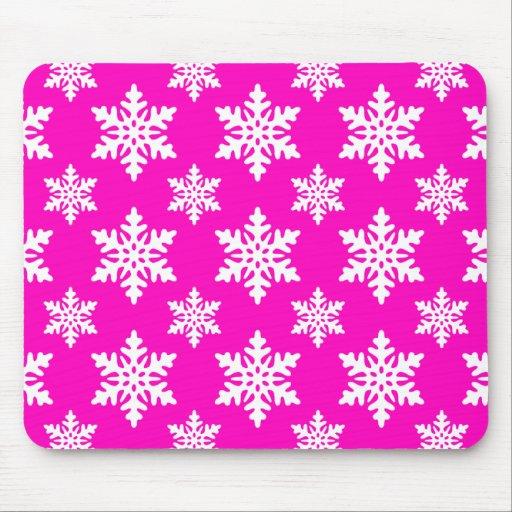 rosa del copo de nieve 1 alfombrilla de ratones