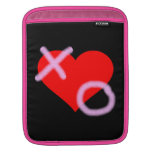 Rosa del corazón de los abrazos y de los besos manga de iPad