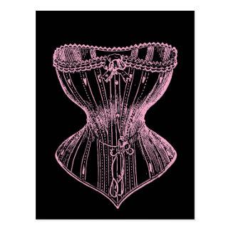Rosa del corsé del Victorian del vintage Postal