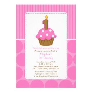 Rosa del cumpleaños de la invitación del cumpleaño