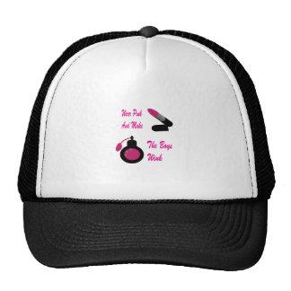 Rosa del desgaste gorras