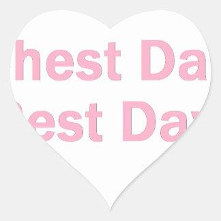 rosa del día del pecho calcomanía de corazón personalizadas