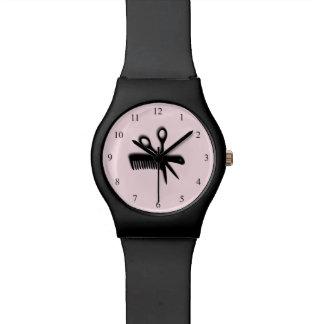 Rosa del diseño del Beautician Reloj De Mano