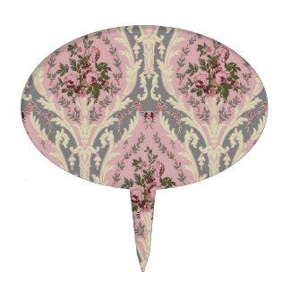 """Rosa del diseño del papel pintado de """"Lillie"""" Decoración Para Tarta"""