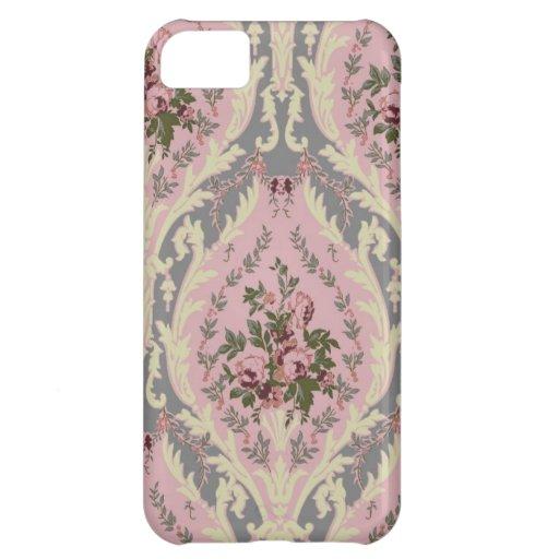 "Rosa del diseño del papel pintado de ""Lillie"" Funda Para iPhone 5C"