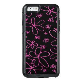 Rosa del Doodle de la flor Funda Otterbox Para iPhone 6/6s