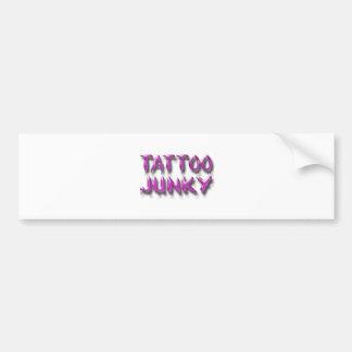 Rosa del drogadicto del tatuaje pegatina de parachoque