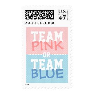 Rosa del equipo o franqueo del género del bebé sello postal