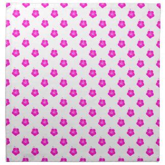 Rosa del estampado de plores 3 servilletas