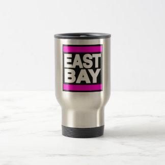 Rosa del este de la bahía taza de viaje de acero inoxidable