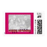 rosa del feliz cumpleaños sellos