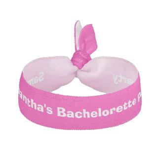 Rosa del fiesta de Bachelorette personalizado Elástico Para El Pelo