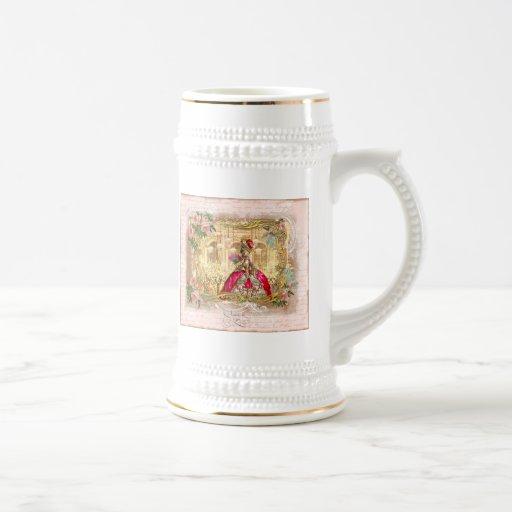Rosa del fiesta de Marie Antonieta Versalles Jarra De Cerveza