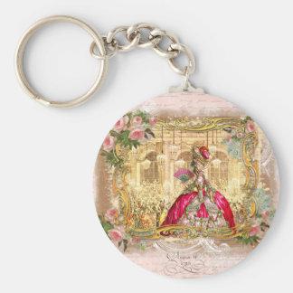 Rosa del fiesta de Marie Antonieta Versalles Llavero Redondo Tipo Pin