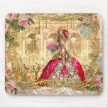 Rosa del fiesta de Marie Antonieta Versalles Alfombrillas De Raton