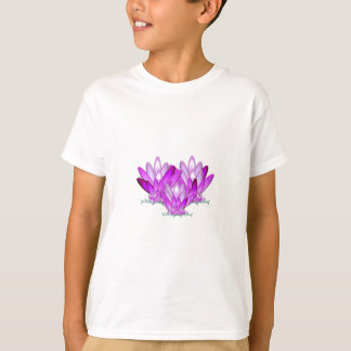 Rosa del flor de Lotus en fondo del verde de mar Playera