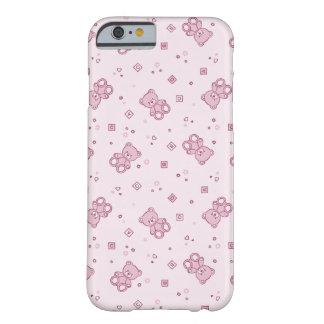 Rosa del fondo de los osos de peluche funda barely there iPhone 6