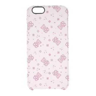 Rosa del fondo de los osos de peluche funda clearly™ deflector para iPhone 6 de uncommon