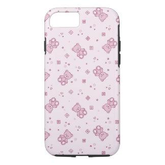 Rosa del fondo de los osos de peluche funda iPhone 7