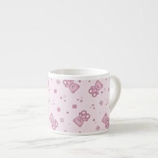 Rosa del fondo de los osos de peluche taza espresso