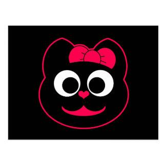 Rosa del gatito de KiKi Postal