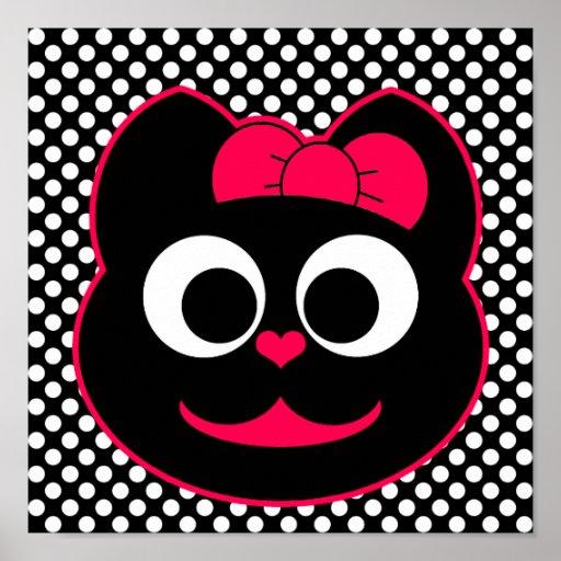 Rosa del gatito de KiKi Posters