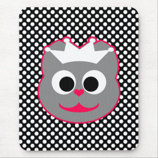 Rosa del gatito del boda - gris tapete de ratones