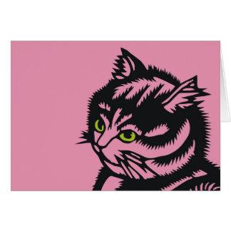 Rosa del gato de Katagami Tarjeta Pequeña