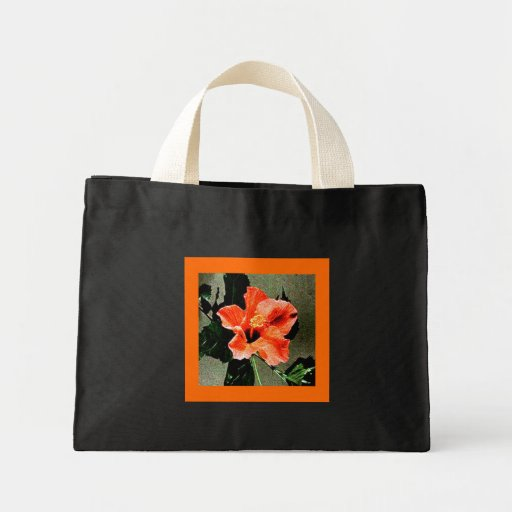 Rosa del hibisco de Sharon, la bolsa de asas