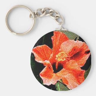 Rosa del hibisco de Sharon Llavero Redondo Tipo Pin