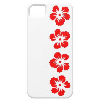 rosa del hibisco del rojo de Sharon iPhone 5 Case-Mate Fundas