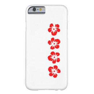 rosa del hibisco del rojo de Sharon Funda De iPhone 6 Barely There