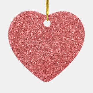 ROSA del hielo de la fresa de PANTONE con falso Adorno De Cerámica En Forma De Corazón