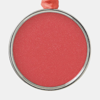 Rosa del hielo de la fresa de PANTONE con falso Adorno Redondo Plateado