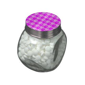 rosa del houndstooth 2 (i) frascos de cristal