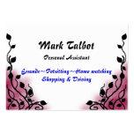 rosa del humo tarjeta personal
