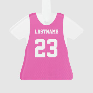 Rosa del jersey de los deportes con número
